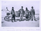 Motor Party - Left to Right: Lashly, Day, Evans and Hooper' from Scott's Last Expedition Photographic Print by Herbert Ponting