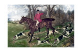 Horse Fox Hunt I Print by Timothy Blossom