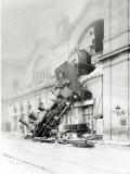 Train Accident at the Gare Montparnasse in Paris on 22nd October 1895 Lámina fotográfica