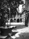 Cluny Abbey Hotel Seen from the Courtyard in Paris Photographic Print by Adolphe Brune