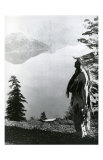 Praying to the Spirits at Crater Lake, Klamath Posters by Edward S. Curtis