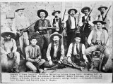 Company D Texas Rangers at Ysleta, Texas, 1894 Photographic Print