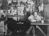 Captain Scott in His Den at Winter Quarters, During the Terra Nova Expedition Photographic Print by Herbert Ponting