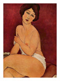 Weiblicher Akt Nude Print by Amedeo Modigliani