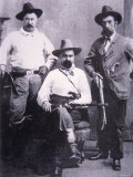 William A. Pinkerton with Special Agents Used For Western Trailing, c.1875 Photographic Print