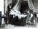 The Visit of the Doctor to the Patient, c.1840-50 Photographic Print by Louis-adolphe Humbert De Mollard