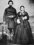 Black Soldier of the Union Army with His Wife, c.1865 Photographic Print