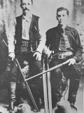 Wells Fargo Stagecoach Messengers Armed with Shotguns and Winchester Repeating Rifles Fotodruck