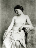 Nude Female Model, c.1850 Fotografie-Druck von Julien Vallou De Villeneuve