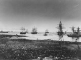 Crimean War, French Squadron, Entry Into the Port, 1855 Photographic Print by Jean Baptiste Henri Durand-Brager