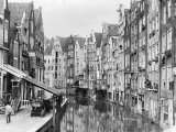 Achterburgwal, Amsterdam, Early 20th Century Fotografie-Druck