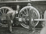 Maintenance Work on a 4-6-0 Locomotive of the Southern Pacific Line, Mid-1920S Photographic Print