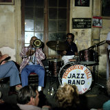 Jazz Band at Preservation Hall, New Orleans Impresso fotogrfica