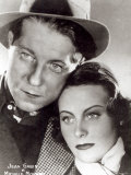 Jean Gabin and Michele Morgan in the Film Quai Des Brumes 1938 Photographie