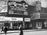 The Cotton Club in Harlem, New York City, c.1930 Papier Photo