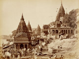 Vishnu Pud and Other Temples, Benares Photographic Print by Samuel Bourne