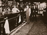Steve Brodie in His Bar, the New York City Tavern Photographic Print