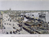 Bordeaux Harbour with Place Richelieu and Quais Louis XVIII, Des Chartrons and de Bacalan, c.1800 Photographic Print