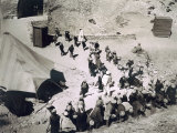 Closing the Tomb of Tutankhamun, Valley of the Kings Photographic Print by Harry Burton