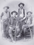 Texas Rangers at Shafter Mines, Big Bend District of Texas, 1890 Photographic Print