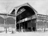 Entrance to a Pavilion of Les Halles Central Market, Paris, c.1900 Photographic Print