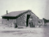 Typical Prairie Sodhouse, Wichita County, Kansas, c.1880 Photographic Print