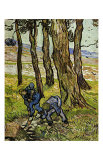 Two Diggers among Trees Posters by Vincent van Gogh