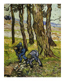 Two Diggers among Trees Prints by Vincent van Gogh
