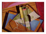Stilleben mit Bordeuauxflasche Prints by Juan Gris