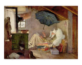 Der arme Poet Interior Prints by Carl Spitzweg