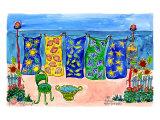 Beach Laundry Prints by Deborah Cavenaugh