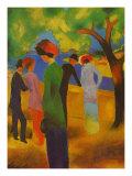 Dame in Gruner, Jacke Park Prints by Auguste Macke