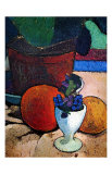 Flower Pot and Fruit Art by Paula Modersohn-Becker