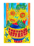 Sunflower Floral Surprise Posters by Deborah Cavenaugh