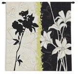 Floral Silhouette Wall Tapestry