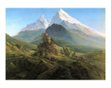 Mountain Majesty Art by Caspar David Friedrich