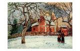 Kastanienbaume in Louveciennes Affiches par Camille Pissarro