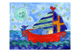 Moon Fish and Star Sailing Posters by Deborah Cavenaugh