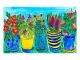 Potted Flower Garden Prints by Deborah Cavenaugh