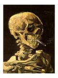Calavera con cigarrillo encendido Posters por Vincent van Gogh