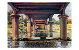Unter der Brucke von Hampton Court Bridge Posters by Alfred Sisley