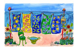Beach Laundry Posters by Deborah Cavenaugh