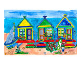 Seaside Row Houses Prints by Deborah Cavenaugh