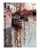 Der Hafen von Triest Art by Egon Schiele