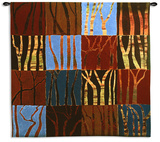 Red Trees Large Wall Tapestry by Gail Altschuler