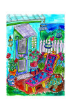 Backyard Garden at the Beach Posters by Deborah Cavenaugh