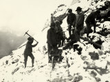 Italian Alpine Troops at Work on Monte Nero During World War I Photographic Print
