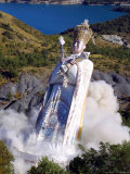 The Giant Statue Representing Mandarom Sect Founder Gilbert Bourdin Photographic Print by Str, Pool