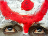 A Sadhu, or Hindu Holy Man, Looks on During the Annual Cattle Fair, Pushkar, India, November 3, 200 Lmina fotogrfica por Rajesh Kumar Singh
