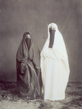 Full-Length Portrait of Two Arab Women in Traditional Dress Photographic Print